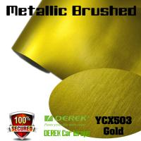 Buy cheap Matte Metallic Brushed Vinyl Wrapping Film - Matte Metallic Brushed Gold product