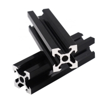 Buy cheap Black Anodized 80X80 Aluminum Assembly Line Extrusions product