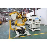 Buy cheap Metal Wafer Material Stamping Conveyor Belt Manual Punch Machine / Decoiler Straightener Feeder product