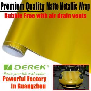 Buy cheap Matte Metallic Car Wrapping Films - Matte Metallic Gold product