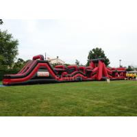 Buy cheap Super Explorer Inflatable Obstacle Course Red Color Double Stitching product