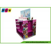 Buy cheap Point Of Sales Cardboard Display Shelves , Four Sided Corrugated Display Stand from wholesalers