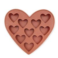 Buy cheap 10 Cavities Silicone Heart Shaped Ice Cube Trays For Chocolate Ice Cream Cake product
