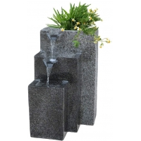 Buy cheap Rock Cast Stone Water Fountain with LED Lights Three Tier  with Low Splash Design for Garden/Patio/Balcony product