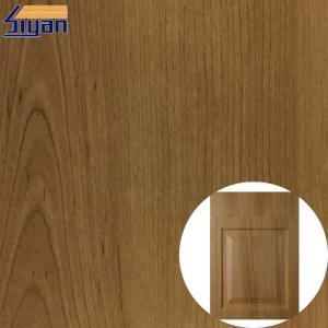 Buy cheap Non Adhesive Wood Grain Membrane PVC Furniture Film For Decoration product
