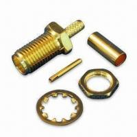 Buy cheap SMA Jack Buckhead Crimp for RG174 Cable, with Teflon Insulation product