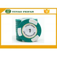 Buy cheap Clay Two Block TEXAS HOLDEM Clay Poker Chips With Paper Stickers / Engraved Words product