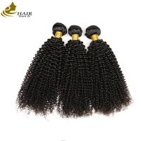 Buy cheap 100% Unprocessed Kinky Curl Malaysian Virgin Hair Extensions Natural Black product
