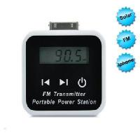 China best price FM Transmitter & Universal Solar Charger for iPhone, ipod, Cell Phone on sale