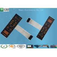 Buy cheap 0.175mm Sand Effect PC Overlay  Metal Dome  Embossing  Membrane Switch product