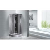 Buy cheap Quadrant Shower Cubicles 900 X 900 X 2100 MM Circle Grey ABS Tray Chrome Profiles product
