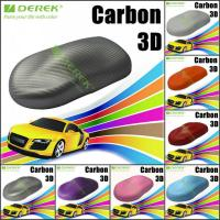 Buy cheap 3D Carbon Fiber Vinyl Wrapping Film bubble free 1.52*30m/roll - Pearl Grey product