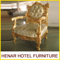 Buy cheap Luxury Commercial Hotel Golden Wood King Throne Chair for Lobby European Style product