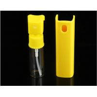 Buy cheap Yellow 20ml Perfume Pump Sprayer , Mini Plastic Spray Bottle With Plastic Shell product