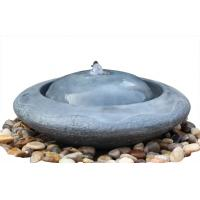 Modern Black Marble Outdoor Sphere Water Fountains For Garden