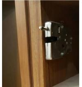 China Corrosion Resistance File Drawer Locks , 95*56*13mm Metal File Cabinet Locks on sale
