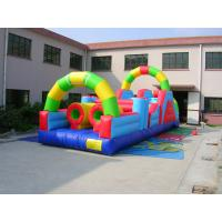 Buy cheap High Quality Inflatable 0.55mm PVC Tarpaulin Bounce House Combo Commercial Grade from wholesalers