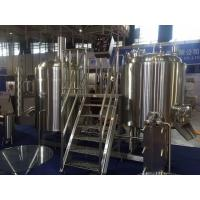 China SUS 304 7Bbl Large Scale Brewing Equipment Semi Automatic Control System for sale