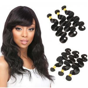 Buy cheap 3 Bundles Brazilian Body Wave Weave Bundles Full Cuticle 7A Brazilian Virgin Hair from wholesalers
