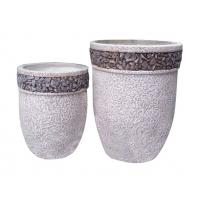 Buy cheap Contemporary Round Cement Garden Planters Cement Flower Pots For Courtyard / House product