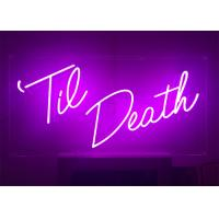 buy cheap 24 inch height custom made pink color led lighting neon sign for event from
