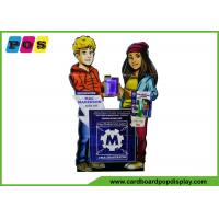 Buy cheap Glossy Lamination Cardboard Figures Lifesize 36x60 Inch With LED Lighting AD013 from wholesalers