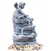 Buy cheap Angel On Rock Waterfall Resin Garden Fountains with LED Light Anchor Falls Cascading product