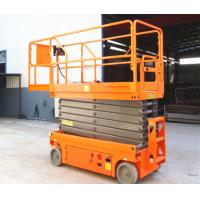 Quality Single Person Self Propelled Aerial Platform Scissor Lift Scaffolding With Emergency Stop Button for sale