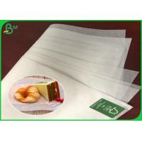 China FSC And FDA 35G Greaseproof Coated Burger Wrapping Paper For Mcdonald on sale