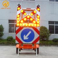 Buy cheap Road Construction Mobile Solar Traffic Signal Directional Arrow / Cross Board Trailer product