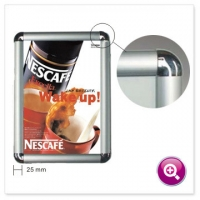 Buy cheap Snap Frame Poster Holder Clip Photo 0.7mm Aluminium Frame Profile product