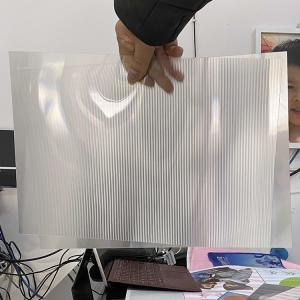 Buy cheap 2021Hot sale 3D lenticular sheet clear PET Lenticular 75 lpi lens sheet 3D flip lenticular lens sheet product