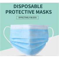 Buy cheap Manufacturer CE/ FDA Medical 3Ply Earloop Mouth Mask 3 Layer Disposable 3 ply Medical Face Mask product