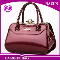 ae8a6106cecf 2017 New designer European durable custom-made fashion glossy classical  rose red pu leather ladies bags handbags
