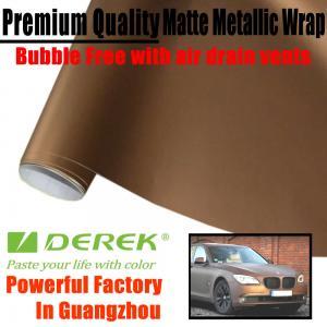 Buy cheap Matte Metallic Car Wrapping Films - Matte Metallic Brown product