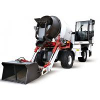 China Self Loading Mobile Concrete Mixer Cement Mixer with Wheel 3m3 on sale