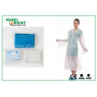 Buy cheap Waterproof Disposable Lab Coats , Transparent Plastic PE disposable visitor coats product