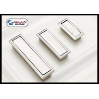 Buy cheap Kitchen Cabinet Door Concealed Drawer Pulls Concave Dresser Knobs Zinc Alloy Brushed from wholesalers