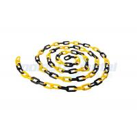 Buy cheap 8 MM Diameter Traffic Cone Plastic Chain Link With Black Yellow Color product