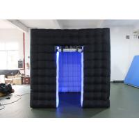 Buy cheap Durable Inflatable Cube Photo Booth Enclosure Black Exterior And White Interior product