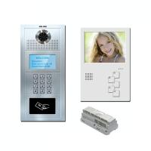 Buy cheap 5 multi apartment cat 5 one cable/ 4+2 wire analog video door phone handsfree video intercom door phone product