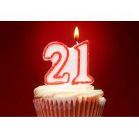 Buy cheap Double Number Glitter Birthday Candles With Red Color Edge And Original Holder product
