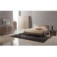 Buy cheap Low Back Headboard Bed Melamine Bedroom Furniture With Big Dresser / Wardrobe product