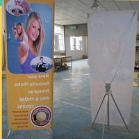 Buy cheap Adjustable X Stand Banners With Grommets Single / Double Sides product