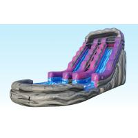 China 19Ft Purple Inflatable Water Slides Summer Splash With Logo Printing on sale
