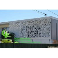 Buy cheap Metal aluminum carving screen panel with various design laser cutting panel for balcony facade window product