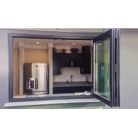 Quality aluminum framed double glazed High Quality Aluminum Glass Bifold Window Folding for sale