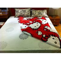 Buy cheap Cartoon Soft Red Hello Kitty Blanket Breathable , ISO Polyester Fleece Blankets product