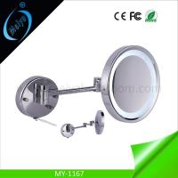 China wall mounted cosmetic mirror with LED light on sale