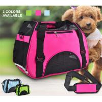 China Small Dogs Soft / Foldable Portable Pet Carrier Bag With Mesh Breathable Side on sale